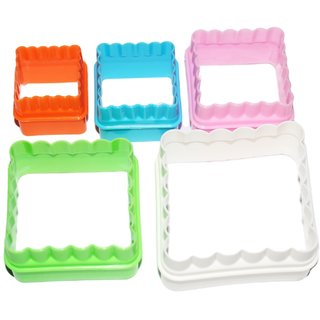 JADES Multicolor Plastic Material Square Shape Bakeware