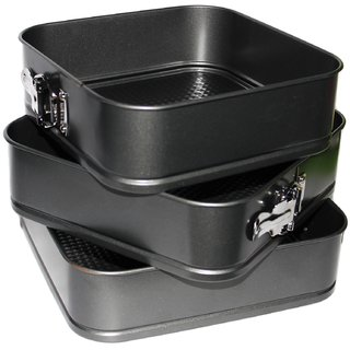 JADES Black Tin Material Nonstick Square Shape Bakeware