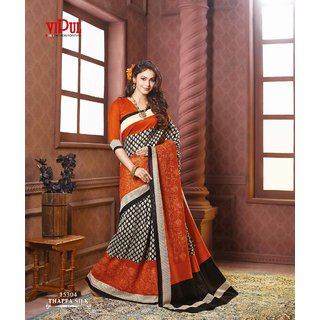 Vipul Branded Designer Thappa Silk Catalog Saree With Embroideried work