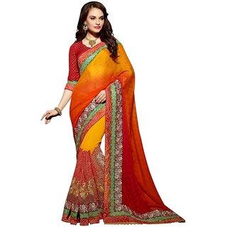 Vipul Branded Designer Catalog Heavy Embrioderied Half & Half Partywear & Bridal saree