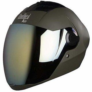 Steelbird Air SBA-2 Full Face Helmet with Visor (Matt Battle Green/Gold M)