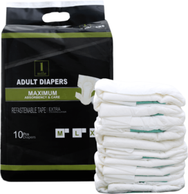 1Mile Adult Diaper Size-M Pack of 10
