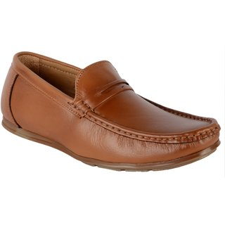 5a101220eec Buy Shoeadda Pure Leather Casual Tan Loafers Online - Get 46% Off