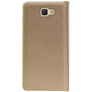 buy cheap 8b57e aa101 TBZ Flip Cover Case for Samsung Galaxy On7 Prime -Golden