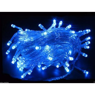 Finest Blue Led Ladi or String Light For Diwali, Marriage, Gurupurab,X-mas, Eid and Birthday Decoration etc