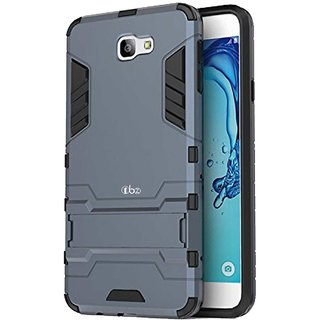 TBZ Tough Heavy Duty Shockproof Armor Defender Dual Protection Layer Hybrid Kickstand Back Case Cover for Samsung Galaxy On7 Prime -Blue