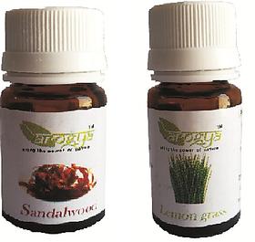 Arogya Diffuser Oil  Combo  Sandalwood + Lemongrass