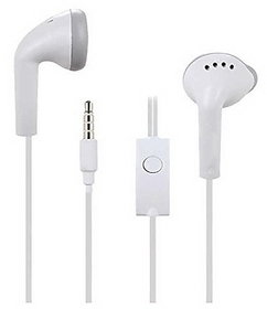 MobileZon HS61 Stereo Earphones With Mic For All Samsung Smartphones (White)