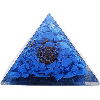 Turquoise Stone Pyramid, Reiki Healing Crystal Chakra, Emf Protection,  Energy Generator Pyramid