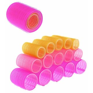 Kelley Pack Of 18 Hair Rollers Three Sizes Hair Rollers Curlers Diy Styling Soft Curler Foam Tool Profesional Roller Bendy Self Sponge With Carry Bag