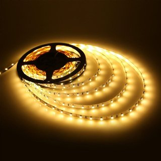 Best4U Finest Warm White or Golden Led 12V Strip Light With Free Ac to DC Adapter