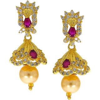 6c4f95883 Anuradha Art Pink Colour Classy Designer Studded American Diamonds Stone  Traditional Jhumka/Jhumki Earrings For Women/Girls