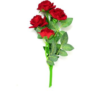 Yuvraj Creation Red Rose Artificial Flower(35 inch Pack of 1)