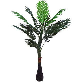 Yuvraj Creation Artificial Palm Tree With Natural Looking Plant Home Decor Office Decor - 90 cm Big Artificial Plant (Green) Bonsai Artificial Plant with Pot(100 cm Green Black)