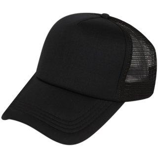 Buy DRUNKEN Men s Stylish Mesh Plain Snapback Baseball Cap For Hunting 32bb003e39e