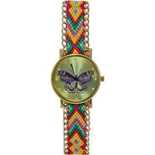 Wonder Designer Vintage Bracelet Butterfly Stylish Trendy Look Stylish Women's Special Edition Watch - For Girls