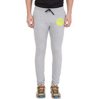 Cliths Men's Grey,Yellow Zeep Printed Trackwear