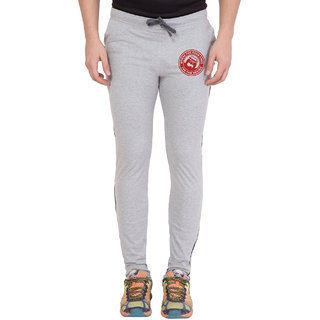 Cliths Grey,Red Round Zeep Printed Trackpant for Men
