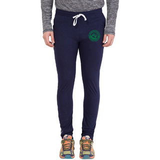 Cliths Navy,Green Zeep Printed Trackwear for Men