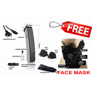 COMBO MENS RECHARGEABLE TRIMMER SHAVING MACHINE NS-216 WITH POWERFUL DUST BIKE FACE MASK