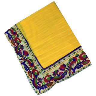 Rangoli Chiffon Saree With Blouse Piece Multicolour Border