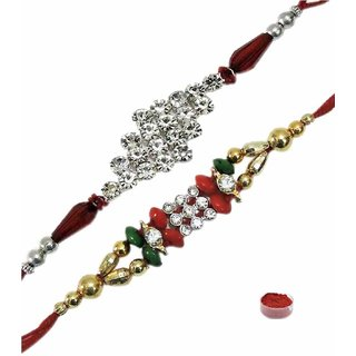 Chic Set of AD  Fancy Rakhis