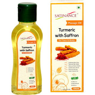 Buy Satinance Turmeric With Saffron Massage oil 100ml - (No Mineral