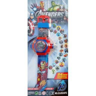Shribossji Avengers Projector Watch For Kids (Multicolor)