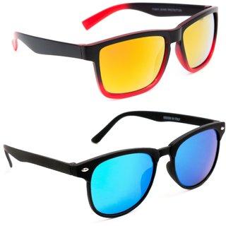 fecac4c6b88 Buy TheWhoop Combo Goggles Mercury Orange And Blue UV Protected Wayfarer  Sunglasses For Men