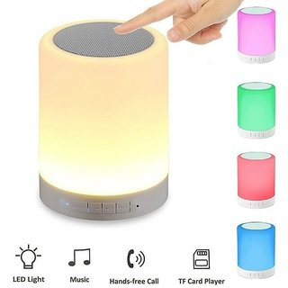 Deals e Unique Bluetooth Speakers Smart Music Lamp Touch LED Lamp Multifunctional Hands-Free Bluetooth(Multicolor)