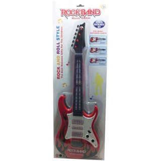 Shribossji Rock  Roll Musical Guitar With Led Lights For Kids