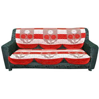 3 Seater kniting Sofa Cover by vivek homesaaz (Maroon)