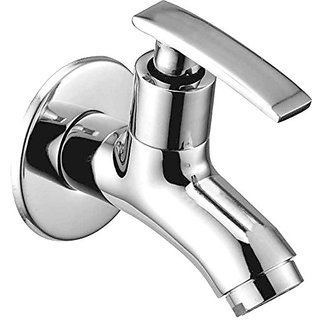 Oleanna Desire Brass Bib Tap with Wall Flange (Disc Fitting | Quarter Turn | Form Flow) Chrome