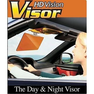 HD Vision Visor Day  Night Vision Flip Down Visor For CAR Easy Sun Glare Block