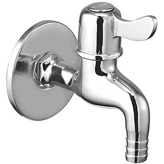 Oleanna Magic Brass Bib Tap Nozzle Cock with Wall Flange (Disc Fitting | Quarter Turn) Chrome