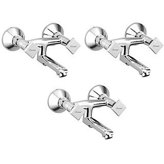 Oleanna Melody Brass Non Telephonic Wall Mixer (Disc Fitting | Quarter Turn | Form Flow) Chrome - Pack Of 3 Nos