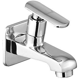 Oleanna Speed Brass Bib Tap with Wall Flange (Disc Fitting | Quarter Turn | Form Flow) Chrome