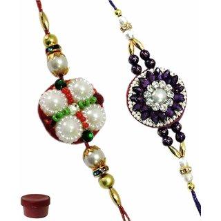 Classy Set of Two Fancy  Pearl Rakhi