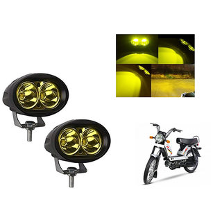 Speedwave Bike 20W 3000K Led Driving Light Cree LED Aux Light Set of 2 yellow for  TVS XL 100 ComFor t