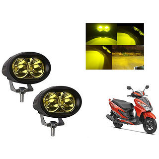 Speedwave Bike 20W 3000K Led Driving Light Cree LED Aux Light Set of 2 yellow for  Honda Grazia