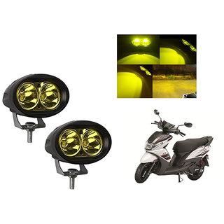 Speedwave Bike 20W 3000K Led Driving Light Cree LED Aux Light Set of 2 yellow for  Yamaha Ray-Z