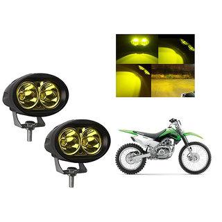 Speedwave Bike 20W 3000K Led Driving Light Cree LED Aux Light Set of 2 yellow for  Kawasaki KLX 160G