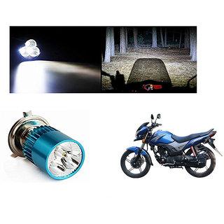Speedwave Bike H4 3LED Bright Light Bulb White-  For Honda CB ShineSP
