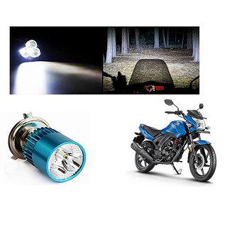 Speedwave Bike H4 3LED Bright Light Bulb White-  For Honda CB Unicorn 160