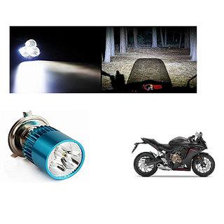 Speedwave Bike H4 3LED Bright Light Bulb White-  For Honda CBR650F
