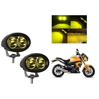 Speedwave Bike 20W 3000K Led Driving Light Cree LED Aux Light Set of 2 yellow for  Mahindra Mojo