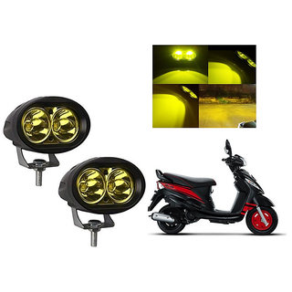 Speedwave Bike 20W 3000K Led Driving Light Cree LED Aux Light Set of 2 yellow for  Mahindra  Rodeo
