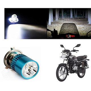 Speedwave Bike H4 3LED Bright Light Bulb White-  For Bajaj Platina