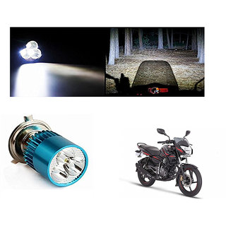 Speedwave Bike H4 3LED Bright Light Bulb White-  For Bajaj Pulsar 135 LS