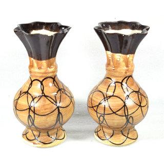 Ceramic Vase Brown Pottery Ceramic Vase Handmade Decorative Flower Pot Ceramic Flower Vase Flower Decoration Desk/Table